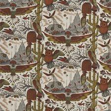 Gold Animal Decorator Fabric by Clarke & Clarke