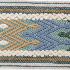 Tapes Teal Trim by Mulberry Home