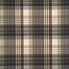 Charcoal/Gold Check Decorator Fabric by Mulberry Home