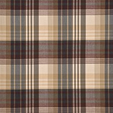 Red/Charcoal Check Decorator Fabric by Mulberry Home