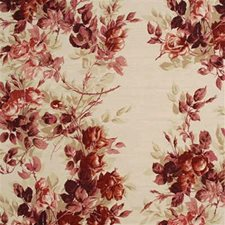 Red Botanical Decorator Fabric by Mulberry Home