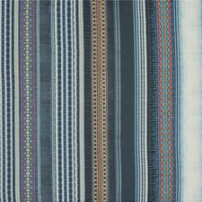 Indigo Print Decorator Fabric by Mulberry Home