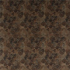 Teal/Spice Velvet Decorator Fabric by Mulberry Home