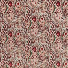 Red/Plum Abstract Decorator Fabric by Mulberry Home