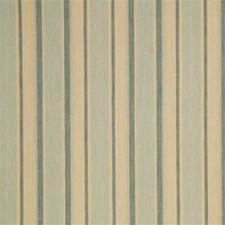 Powder Blue/Cream Stripes Decorator Fabric by Mulberry Home