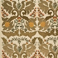 Sage/Gold Embroidery Decorator Fabric by Mulberry Home