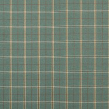 Teal Plaid Decorator Fabric by Mulberry Home