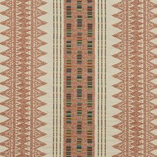 Russet Embroidery Decorator Fabric by Mulberry Home