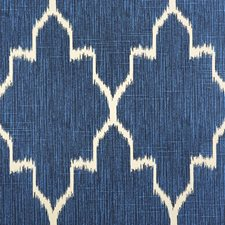 Blue/Offwhite/White Transitional Decorator Fabric by JF