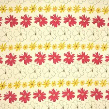Yellow/Burgundy/Red Botanical Decorator Fabric by Kravet