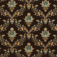 Bronze/Blue Decorator Fabric by RM Coco
