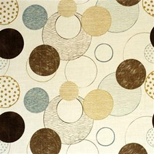 Brown/Aqua Print Decorator Fabric by Lee Jofa