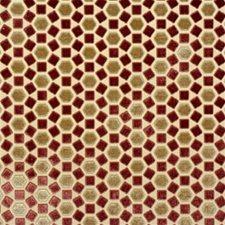 Salmon Geometric Decorator Fabric by Groundworks