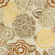 Brass/Wheat Embroidery Decorator Fabric by Groundworks