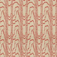 Salmon/Linen Contemporary Decorator Fabric by Groundworks