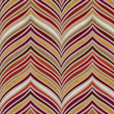 Spice/Magenta Contemporary Decorator Fabric by Groundworks