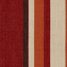 Red/Orange Stripes Decorator Fabric by Groundworks