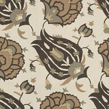 Onyx/Vicuna Ethnic Decorator Fabric by Groundworks