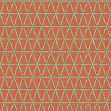 Coral Lattice Decorator Fabric by Groundworks