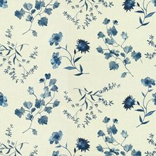 Blues Botanical Decorator Fabric by Groundworks