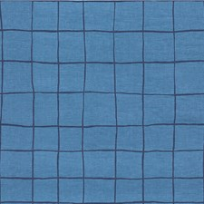 Blue/Navy Modern Decorator Fabric by Groundworks