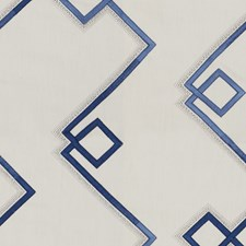 Blue Contemporary Decorator Fabric by Groundworks