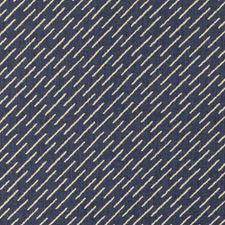 Navy/Cream Modern Decorator Fabric by Groundworks