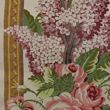 Lilac/Green On Ivory Decorator Fabric by Scalamandre
