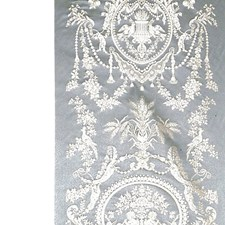 Beige/Blue Decorator Fabric by Scalamandre