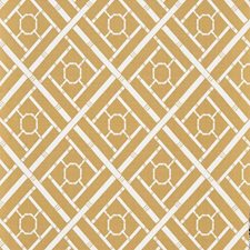 White/Yellow/Gold Traditional Decorator Fabric by JF