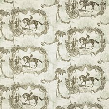 Light Blue/Brown Toile Decorator Fabric by Kravet