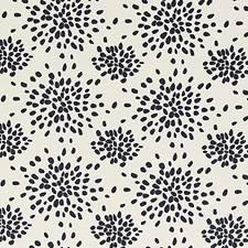 Black On Off-White Decorator Fabric by Scalamandre