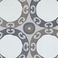 Blue/brown Decorator Fabric by Highland Court
