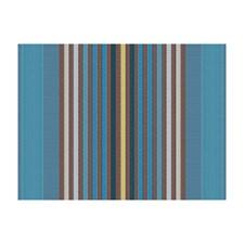 Siberian Blue Stripes Decorator Fabric by Brunschwig & Fils