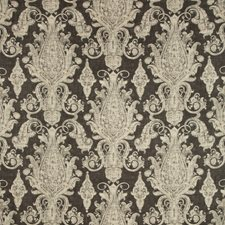 Charcoal/Ivory/Beige Paisley Decorator Fabric by Kravet