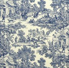 Chambray Toile Decorator Fabric by Laura Ashley