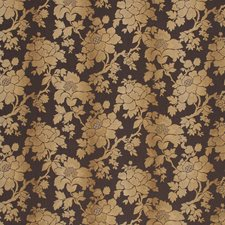 Dark Brown Botanical Decorator Fabric by Baker Lifestyle