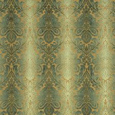Teal/Aqua Damask Decorator Fabric by Baker Lifestyle