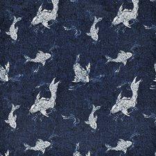 Indigo Decorator Fabric by Ralph Lauren