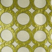 Creme/Beige/Green Traditional Decorator Fabric by JF