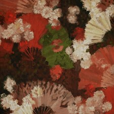 Red/White/Multi Botanical Decorator Fabric by Kravet