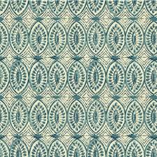 Beige/Indigo/Light Blue Geometric Decorator Fabric by Kravet