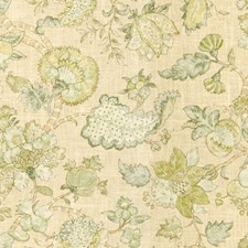 Beige/Green/Light Green Print Decorator Fabric by Kravet