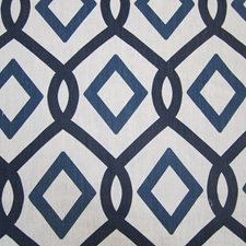 Blue/Offwhite Traditional Decorator Fabric by JF