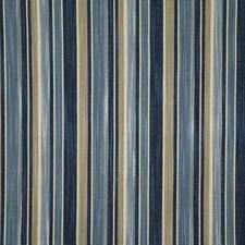 Bluestone Stripe Decorator Fabric by Pindler
