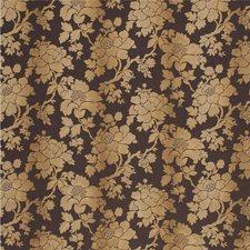 Dark Brown Botanical Decorator Fabric by Parkertex