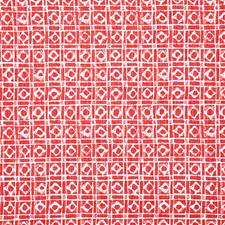 Red Print Decorator Fabric by Pindler