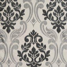 Black Damask Decorator Fabric by Kasmir