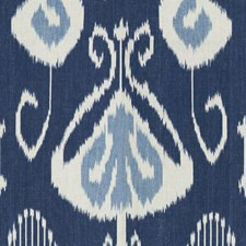 Indigo Ikat Decorator Fabric by Baker Lifestyle