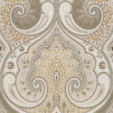 Stone/Oatmeal Damask Decorator Fabric by Baker Lifestyle